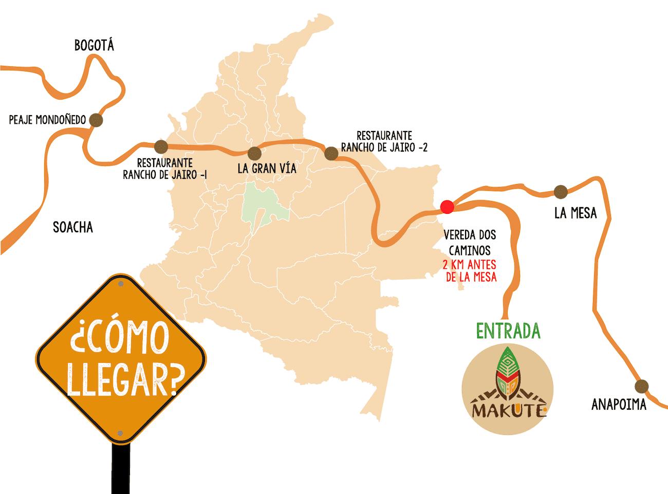 Mapa Como Llegar Parque Makute